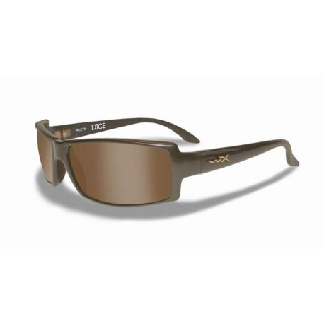 Wiley X - DICE Polarized Brown Metallic Brown Frame