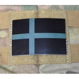 IR Dannebrog på Velcro (Sort/oliven)