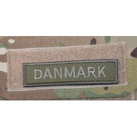 DANMARK - Grøn/oliven på velcro