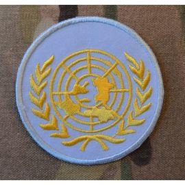UN rund (lyseblå/gul)