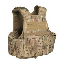 MIL-TEC - Laser Cut Carrier Vest, Multicamouflage
