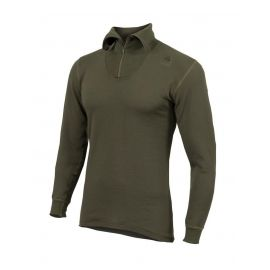 ACLIMA - Hotwool Polo W/Zip, oliven