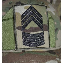 Feltgradstegn Seniorsergent, MultiCam på Velcro