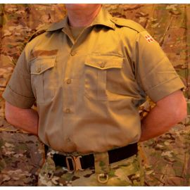 MLV - Tjenesteskjorte, Korte ærmer, MTS-Khaki