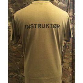 RAVEN - T-shirt, MTS-khaki - med INSTRUKTØR tryk
