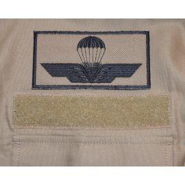 Italiensk Faldskærmsvinge - MTS-Khaki/sort, Iron-On