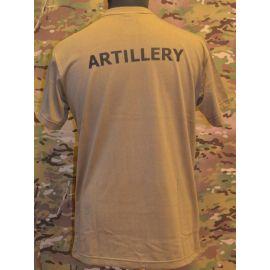 RAVEN - T-shirt, MTS-khaki - med ARTILLERY tryk