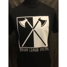 Major League Viking - T-shirt med Økser, sort
