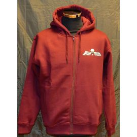 Major League Viking - Hoodie med Hollandsk Fladskærmsvinge, Bordeaux