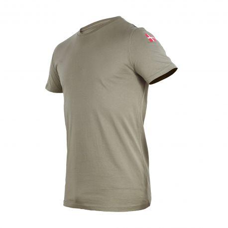 MLV - Duty T-shirt, MTS Khaki med Dannebrog
