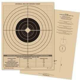 All-Weather - Universal MOA 25 Meter Zeroing Target, Vandafvisende