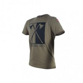 Major League Viking T-shirt med Økser og Dannebrog, MTS-Khaki