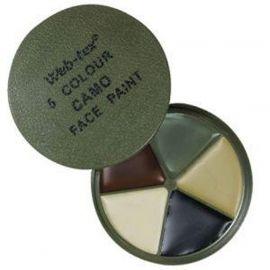 Web-tex - Multi Terræn camouflage, 5 farver og spejl