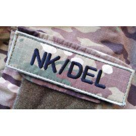 NK/DEL ærmemærke, MultiCam på velcro