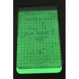 Modestone - Glowpad (Selvlysende skriveplade) med 5 stk. selvklæbende velcro