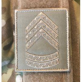 Gradstegn Oversergent, khaki på Velcro