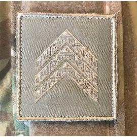 Gradstegn Sergent (uden bue), khaki på Velcro
