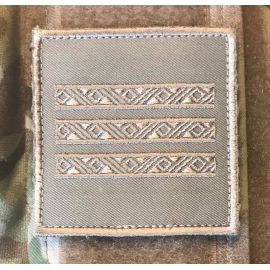 Gradstegn Overkonstabel-1, khaki på Velcro