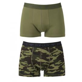 TOP GUN - Boxer Shorts, 2 pak, Oliven/Camoflage