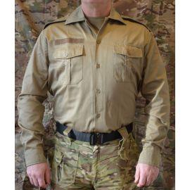 Tjenesteskjorte, Lange ærmer, MTS-Khaki