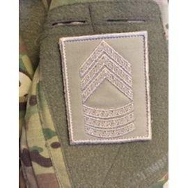 Gradstegn Seniorsergent, khaki på Velcro
