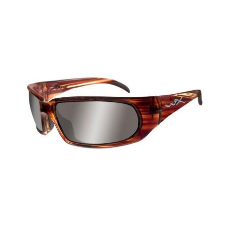 Wiley X - SLYDE Silver Flash Gloss Linear Brown Frame