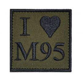 I love M95 - Sort/Oliven med velcro