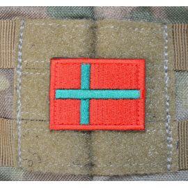 Bornholmsk Flag - på velcro