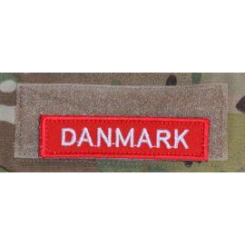 DANMARK - Rød/hvid på velcro