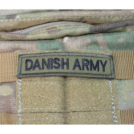 DANISH ARMY Sort/Oliven - med velcro