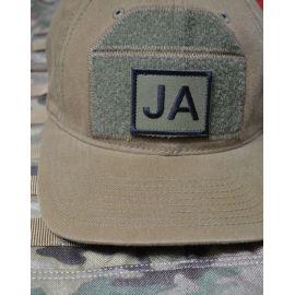 Patch til JA Hatten - Sort/Oliven - med velcro