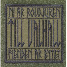 MLV - TILL VALHALL - Svart/olivgrön på velcro (Svenska)