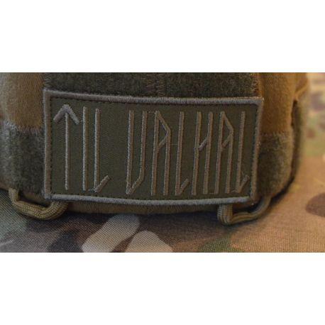 TIL VALHAL Patch, 8cm X 4cm, Grøn/oliven