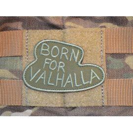Born for Valhalla - Olivengrøn på velcro