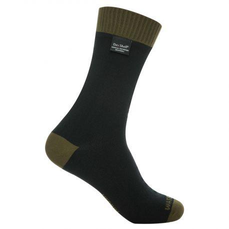 DexShell - Vandtæt Thermlite Sock, Oliven/Sort