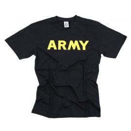 "T-shirt ""ARMY"", sort/gul"