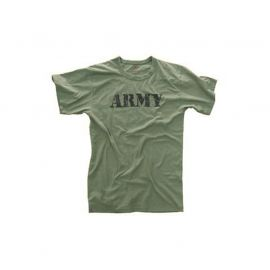 "T-shirt ""ARMY"", Oliven/sort"
