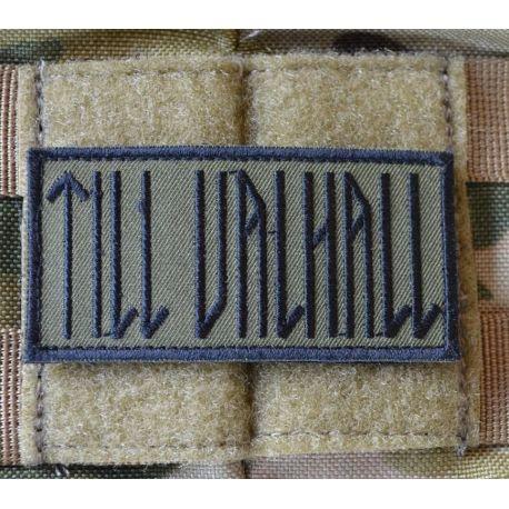 MLV - TILL VALHALL Patch, Svenska, Svart / Grön