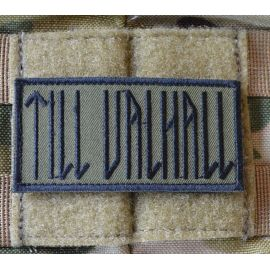 MLV - TILL VALHALL Patch, Swedish, Black/Olive 4 x 8cm