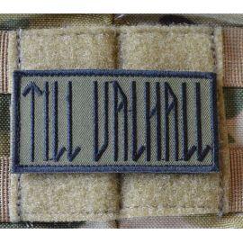 TILL VALHALL Patch, Svenska, Svart / Grön 4 x 8cm
