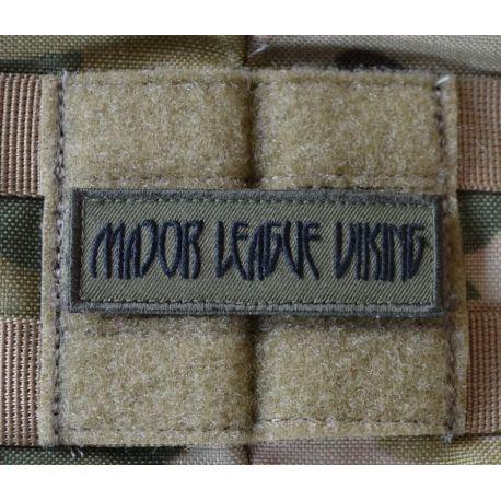 Major League Viking Patch, Sort/Oliven på Velcro