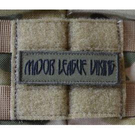 Major League Viking Patch, Black/Olive on Velcro