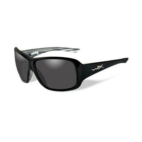 Wiley X - ABBY Polarized Smoke Grey Black Marble Frame