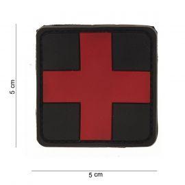 Røde kors, PVC Patch, velcro