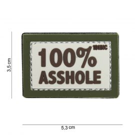 100% Asshole 3D PVC Patch