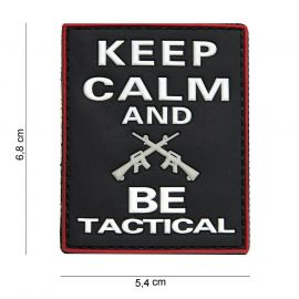 Keep Calm And Be Tactical 3D PVC Patch, Black