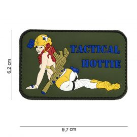 Tactical Hottie 3D PVC Patch, Green