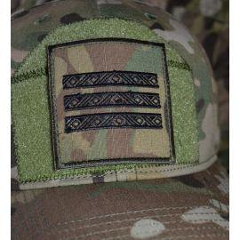 Feltgradstegn Overkonstabel-1, MultiCam på Velcro