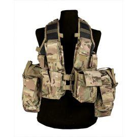 MIL-TEC - Tactical Vest (12 lommer) Multitarn