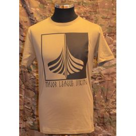 Major League Viking T-shirt med Skib og Dannebrog, MTS-Khaki